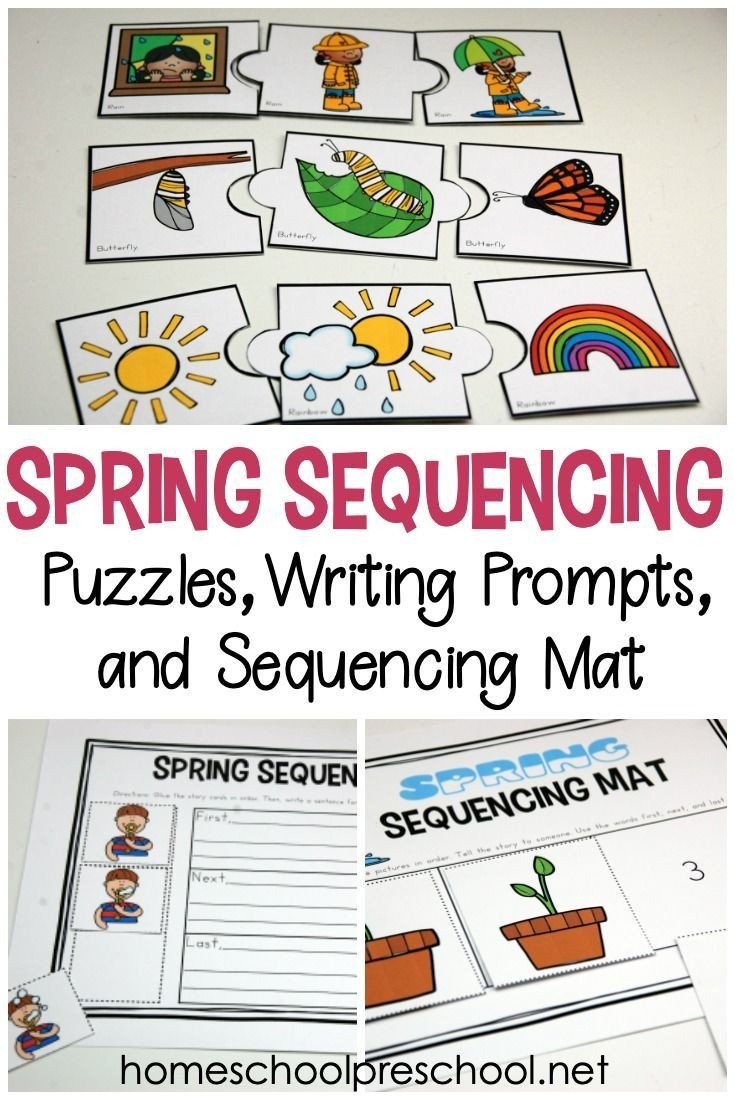 Free Printable Sequencing Worksheets Free Printable Spring Sequence Cards for Preschoolers