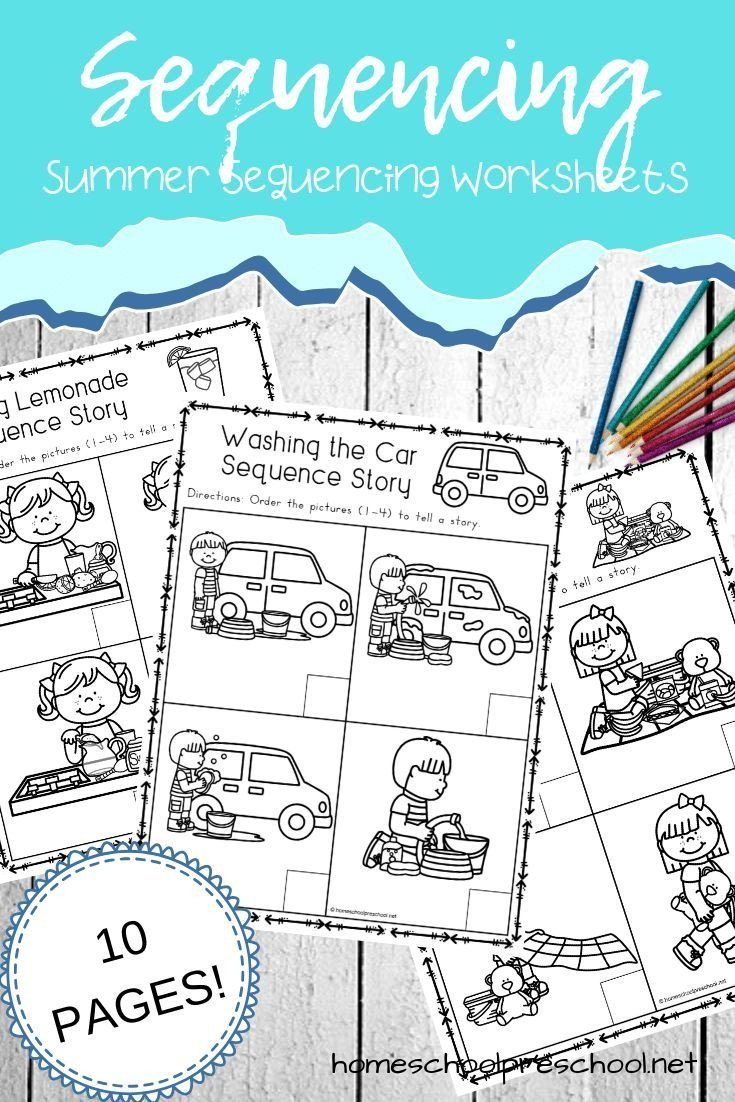 Free Printable Sequencing Worksheets Free Sequencing Worksheets that are Perfect for Summer