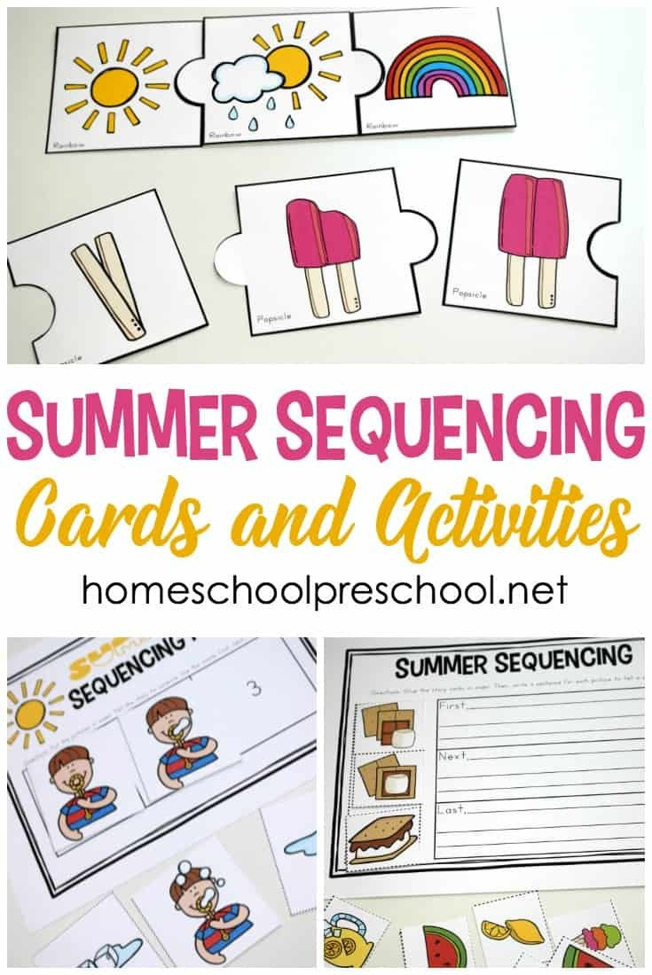 Free Printable Story Sequencing Worksheets Free Printable Summer Sequencing Cards for Preschoolers