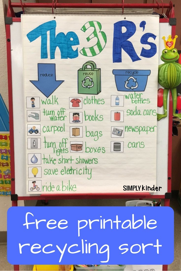 Free Recycling Worksheets Free Recycling sort Simply Kinder