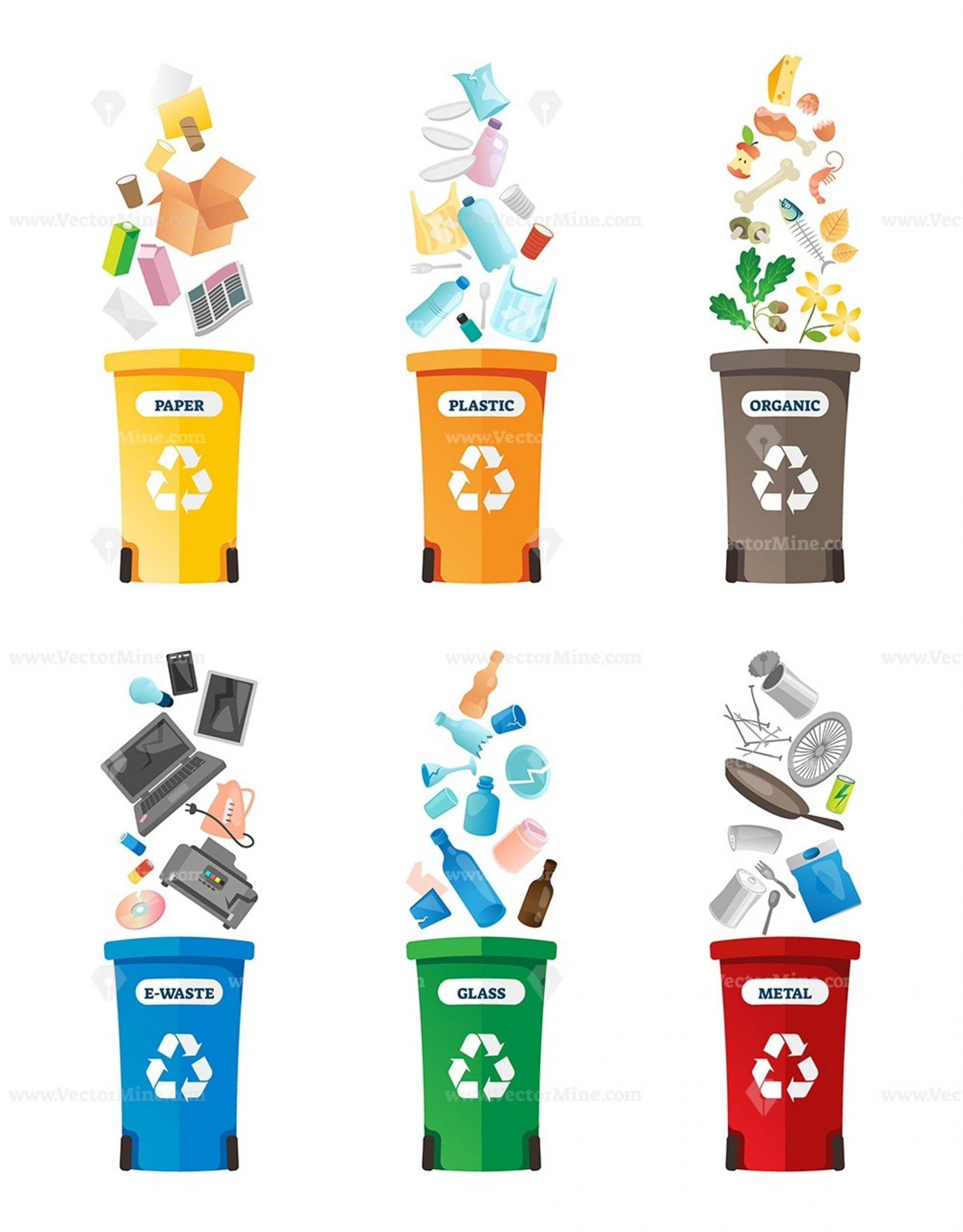 Free Recycling Worksheets Free Recycling Vector Illustration Collection