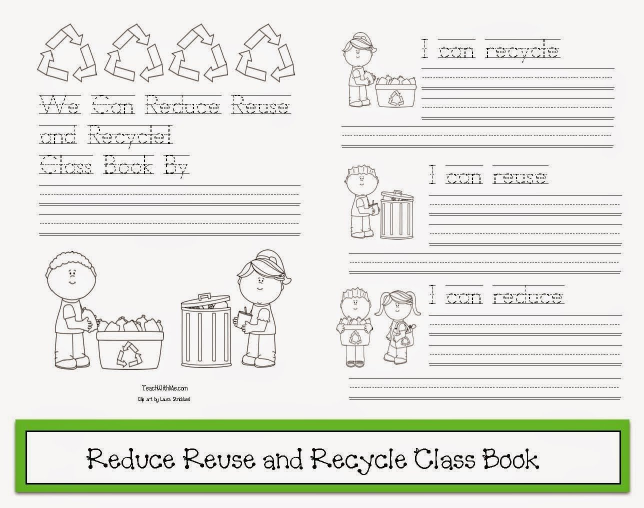 Free Recycling Worksheets Reduce Reuse Recycle Worksheet