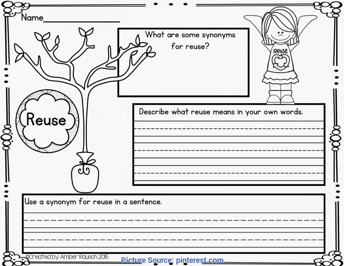 Free Recycling Worksheets Valuable First Grade Lesson Plan Reduce Reuse Recycle the