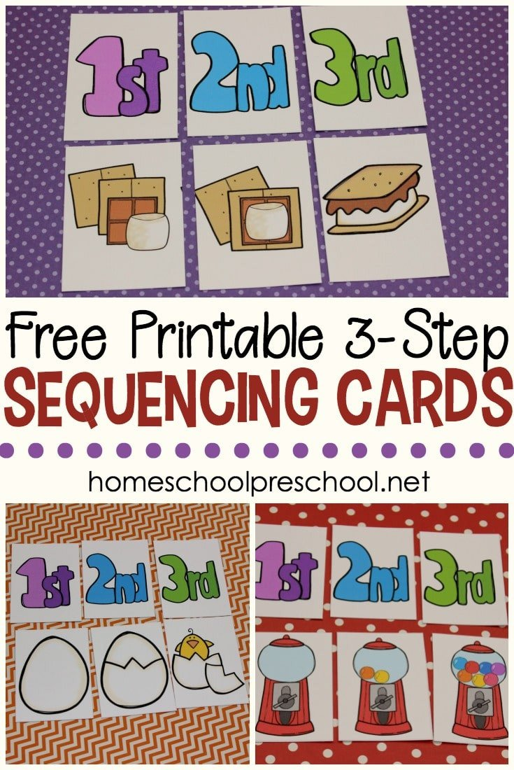Free Sequencing Worksheets Free 3 Step Sequencing Cards for Preschoolers