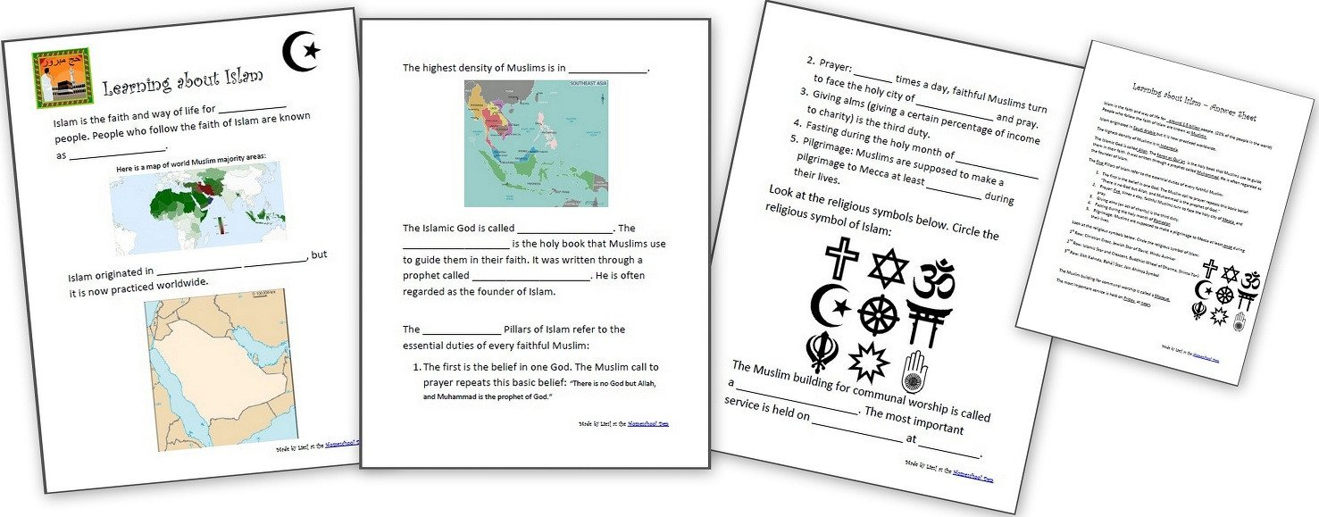 Free Us History Worksheets Learning About islam Free Worksheets and Resources for