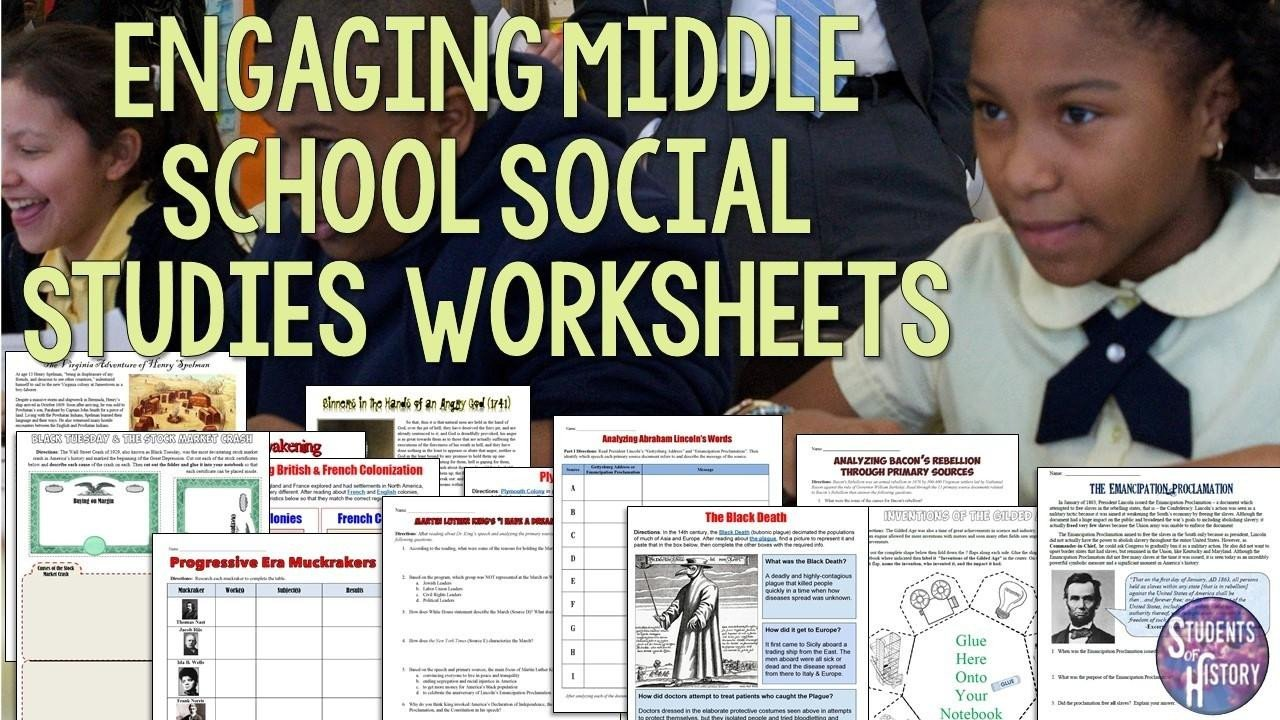 Free Us History Worksheets social Stu S Worksheets for Middle School