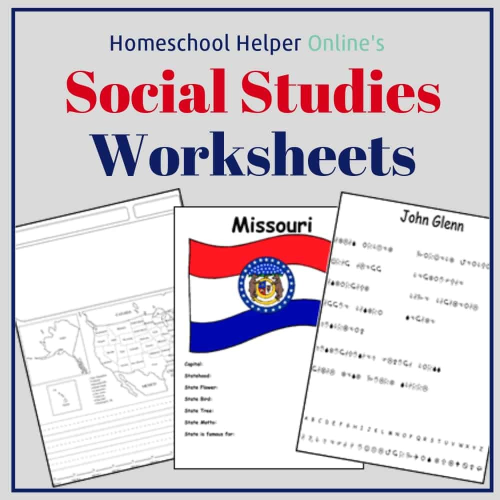 Free Us History Worksheets social Stu S Worksheets Homeschool Helper Line