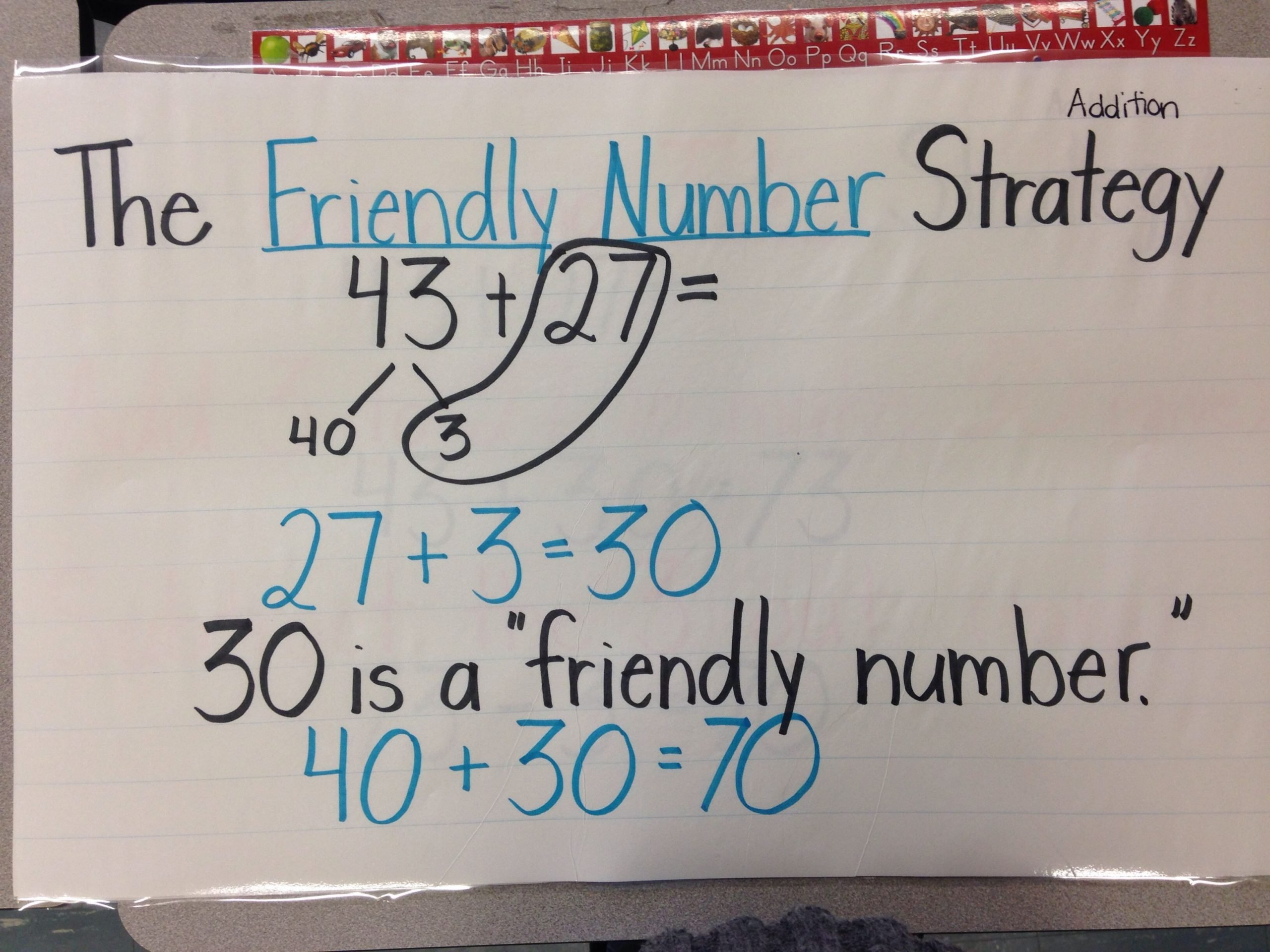 Friendly Numbers Worksheet Friendly Number Strategy for Addition