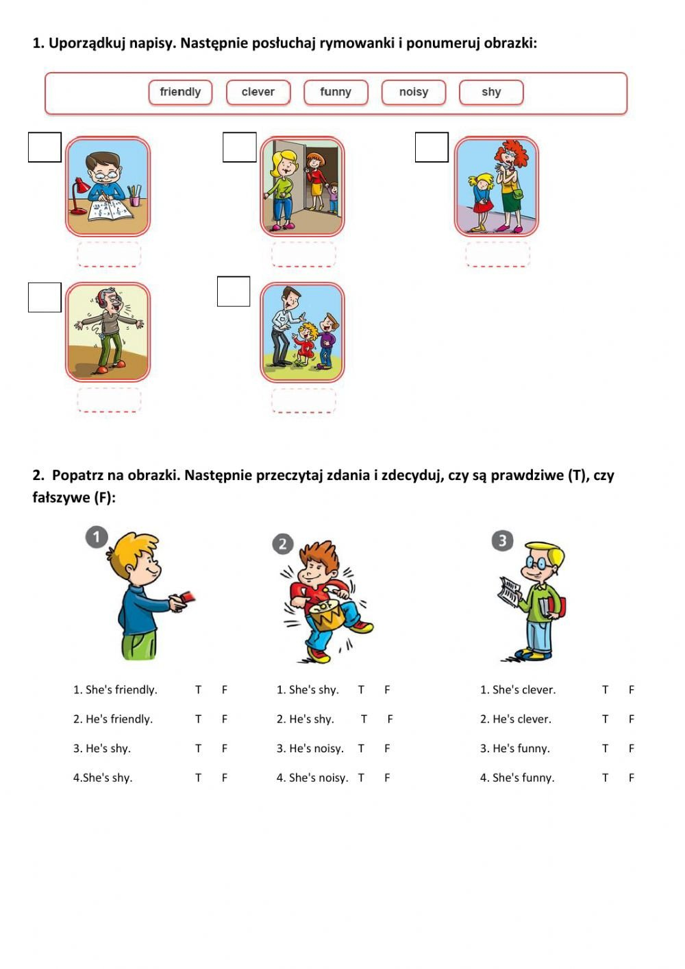 Friendly Numbers Worksheet She S He S Interactive Worksheet