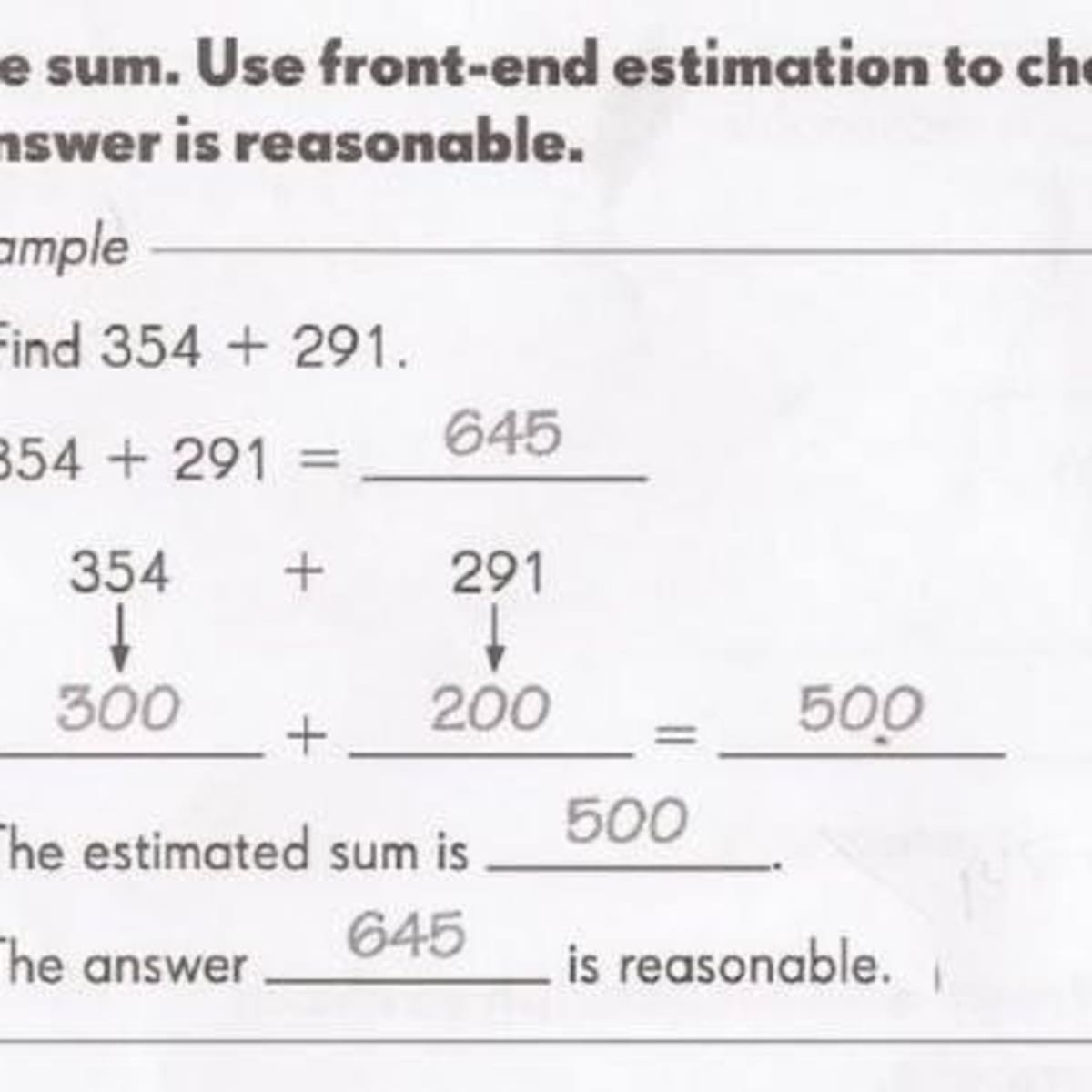 Front End Estimation Worksheets Mon Core Math Worksheet Questions whether Students are