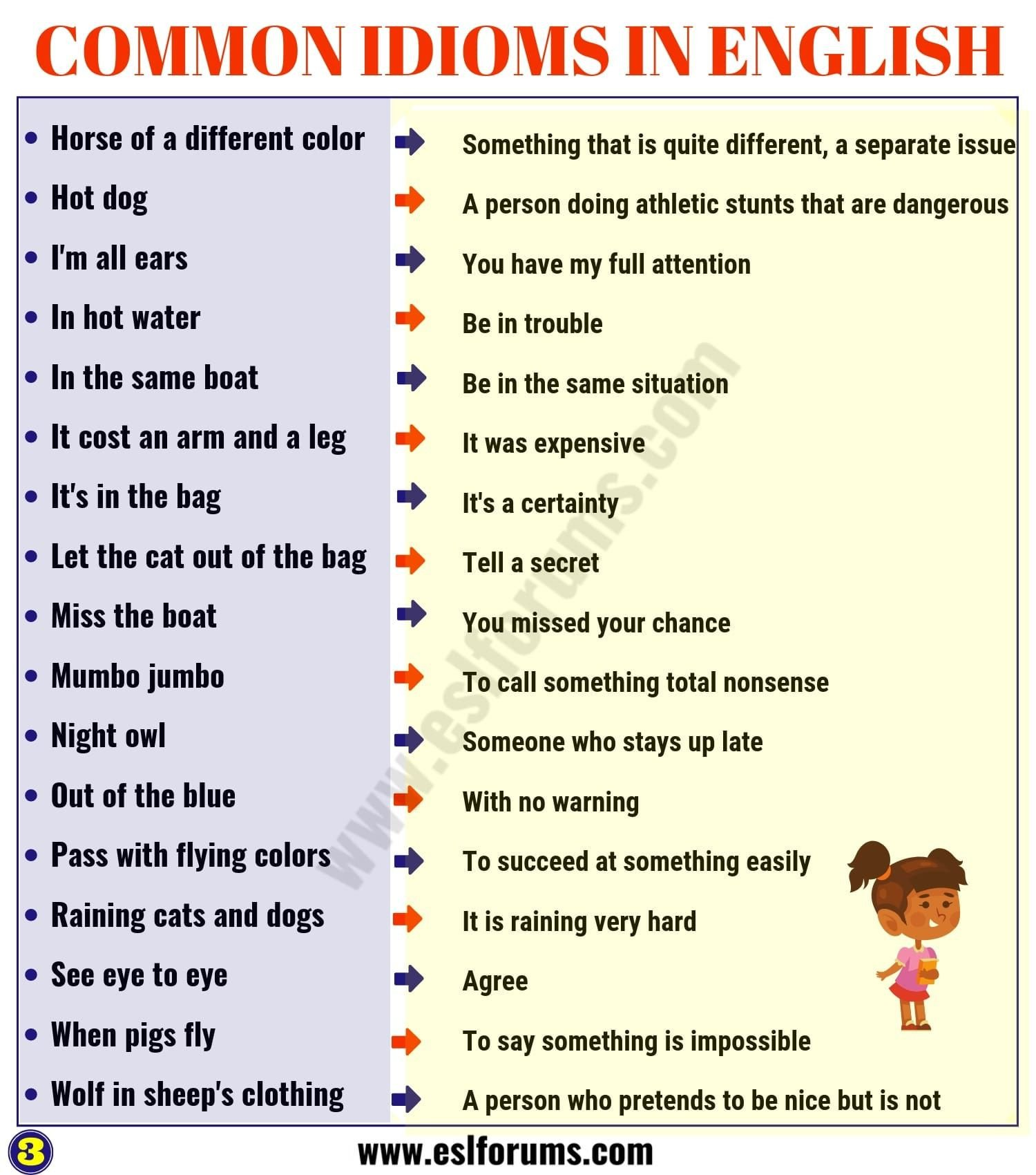 Funny Comma Mistakes Worksheets top 60 Interesting Idioms for Kids with their Meaning Esl