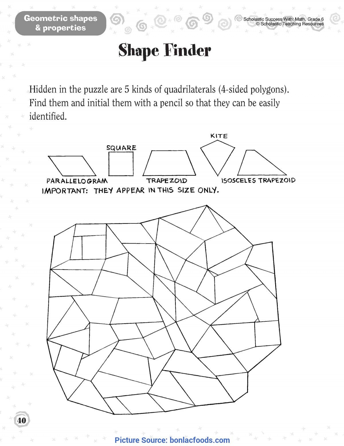 find these 2nd grade geometry posters for free modeled afte