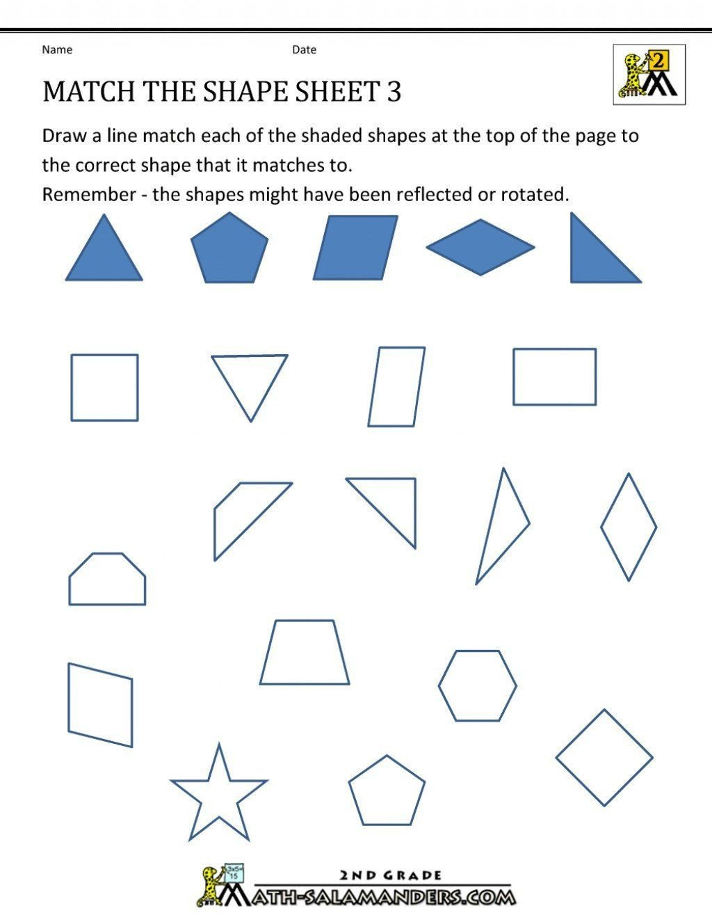 Geometry Worksheet 2nd Grade Pin On Grade Main Idea Worksheets