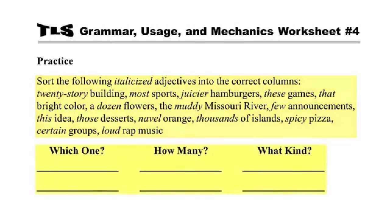 Grammar Usage and Mechanics Worksheets Remedial Grammar Usage and Mechanics Instruction Module 6