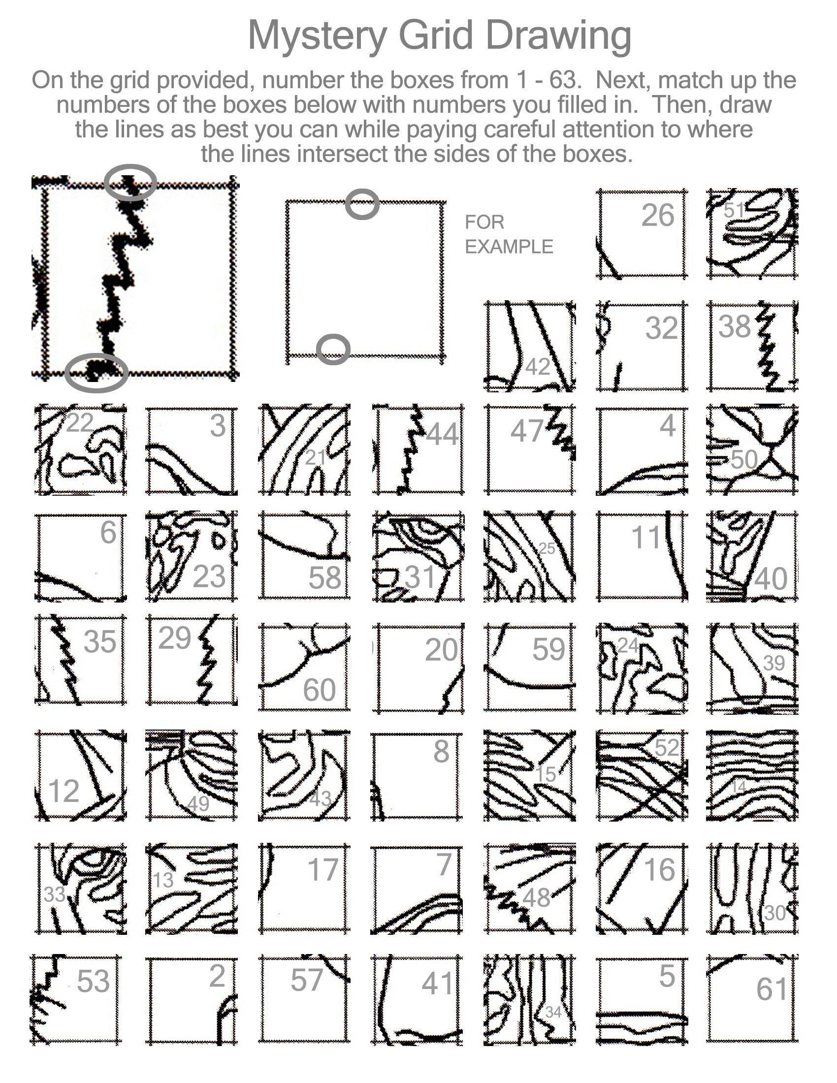 Grid Drawing Worksheets Middle School Drawing Activity to Teach the Grid Method Requires A 9x7