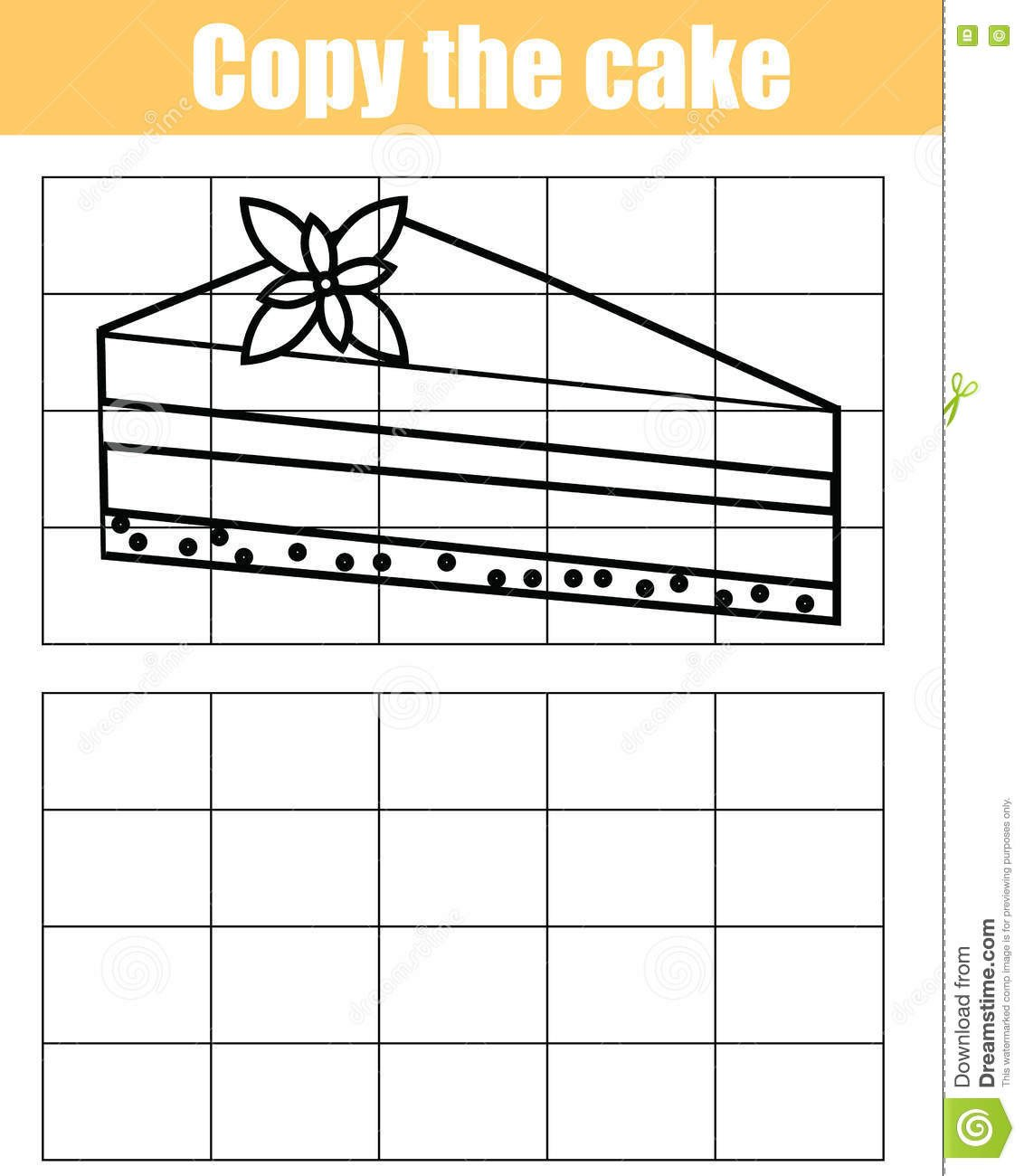 Grid Drawing Worksheets Middle School Grid Copy Children Educational Game Printable Drawing Kids