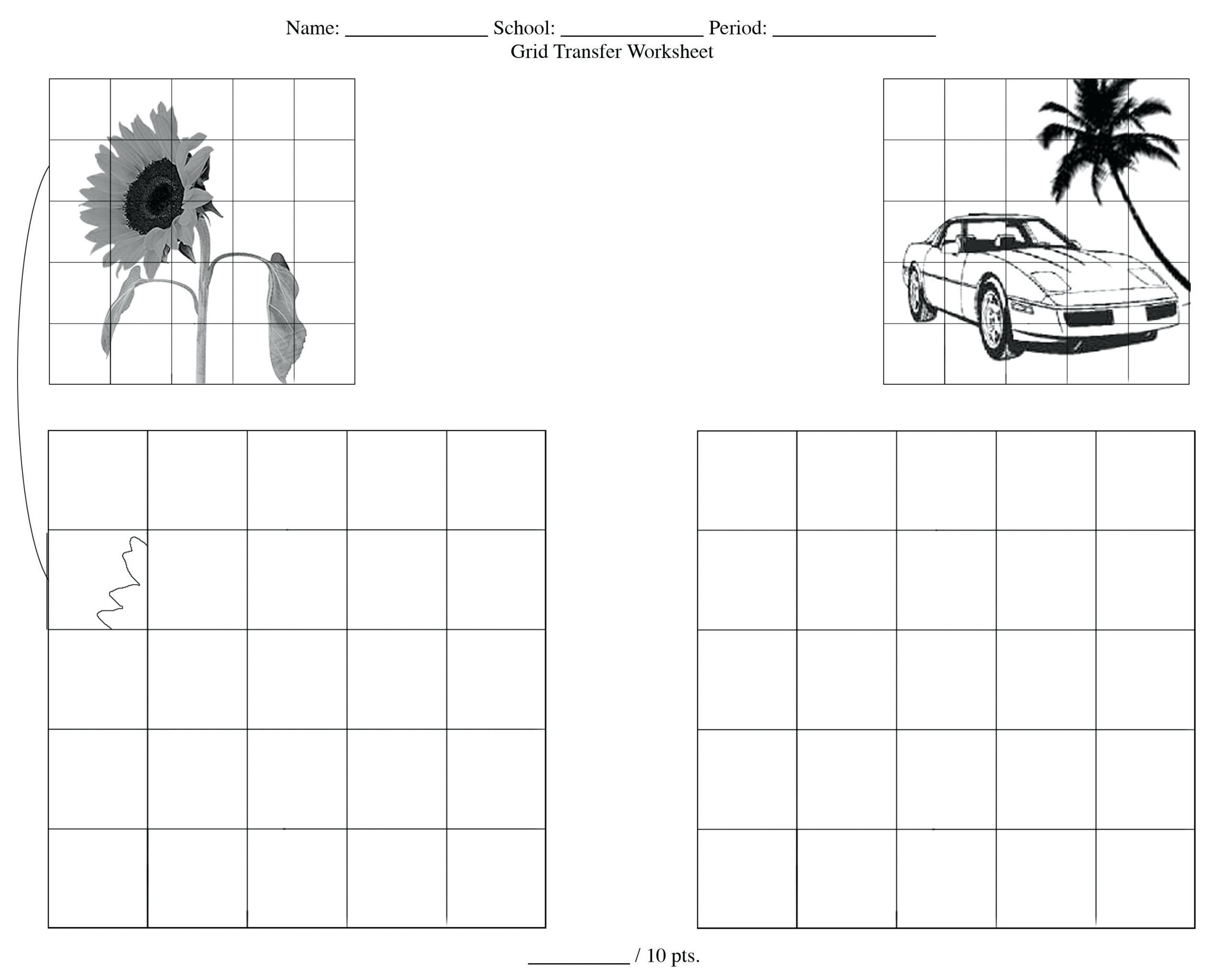 Grid Drawing Worksheets Middle School Grid Drawing Worksheets Person