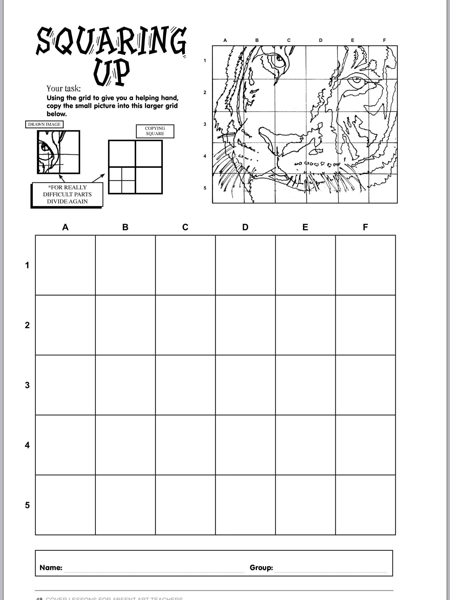 Grid Drawing Worksheets Middle School Töölehed