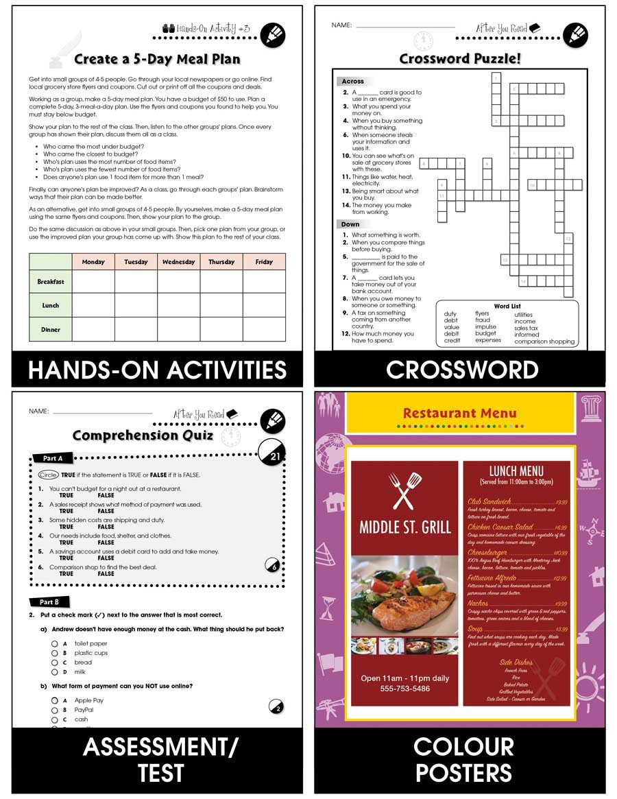 Grocery Shopping Math Worksheets Daily Marketplace Skills Menu Math and Grocery Shopping