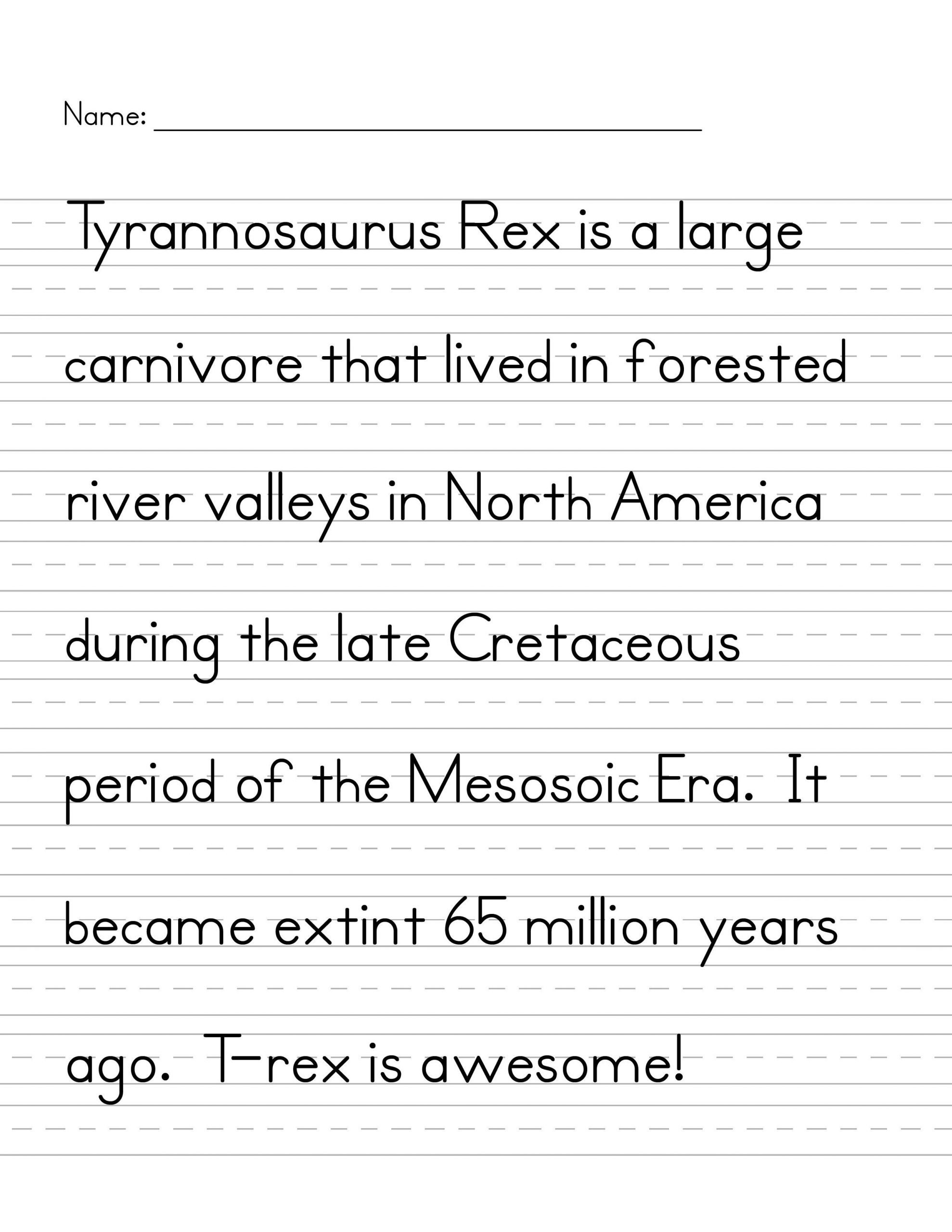 Handwriting Analysis Worksheet Handwriting T Rex 2550—3300