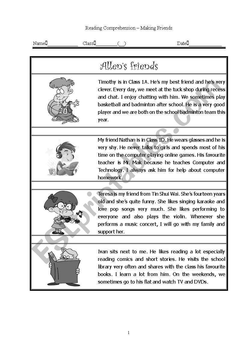 How to Make Friends Worksheet Making Friends Esl Worksheet by Azntorboy