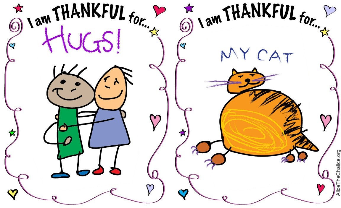 "I Am Thankful for Worksheet I Am Thankful for"" Activity Sheet – Alice the Chalice"