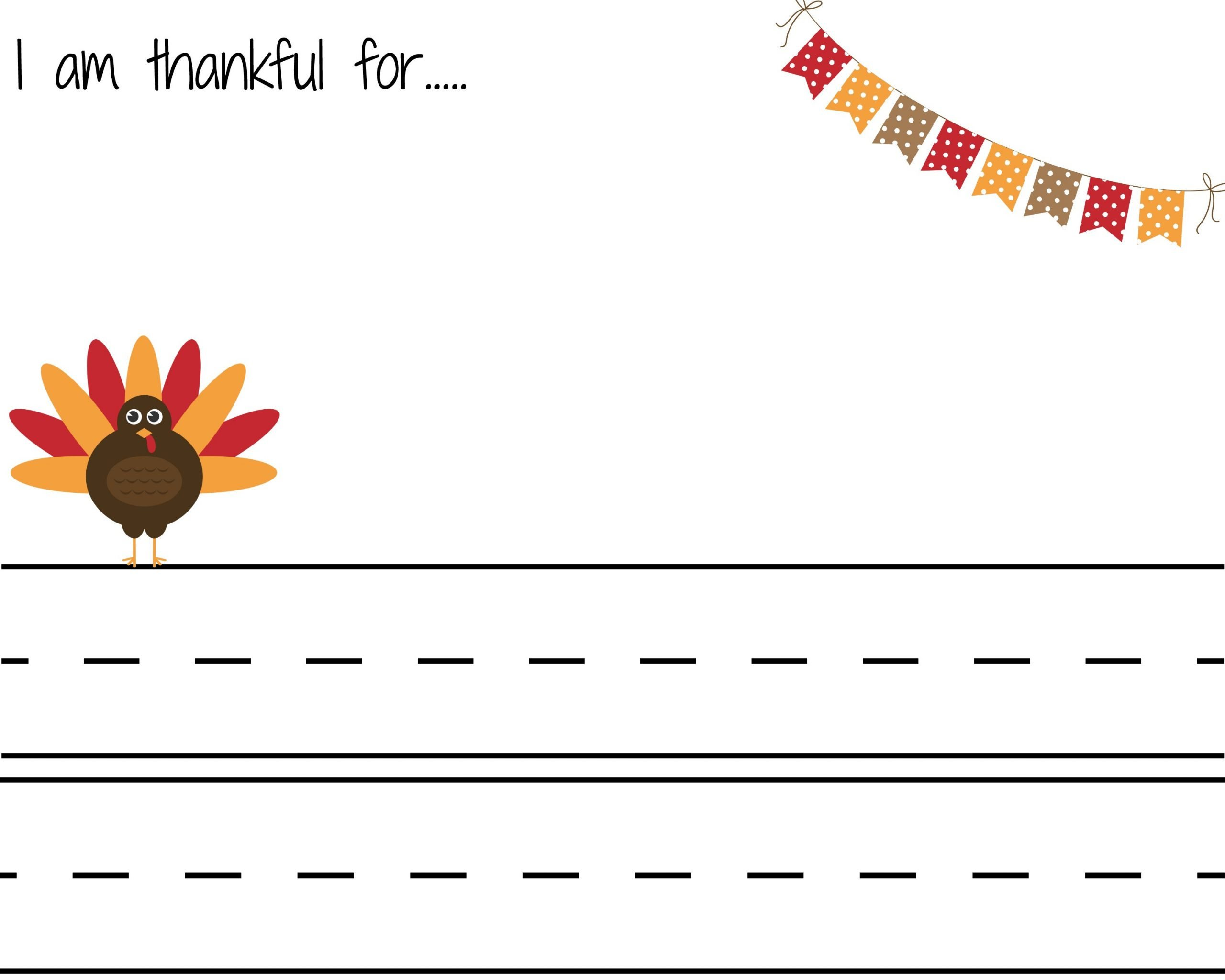 I Am Thankful for Worksheet I Am Thankful for Free Printables the Chirping Moms