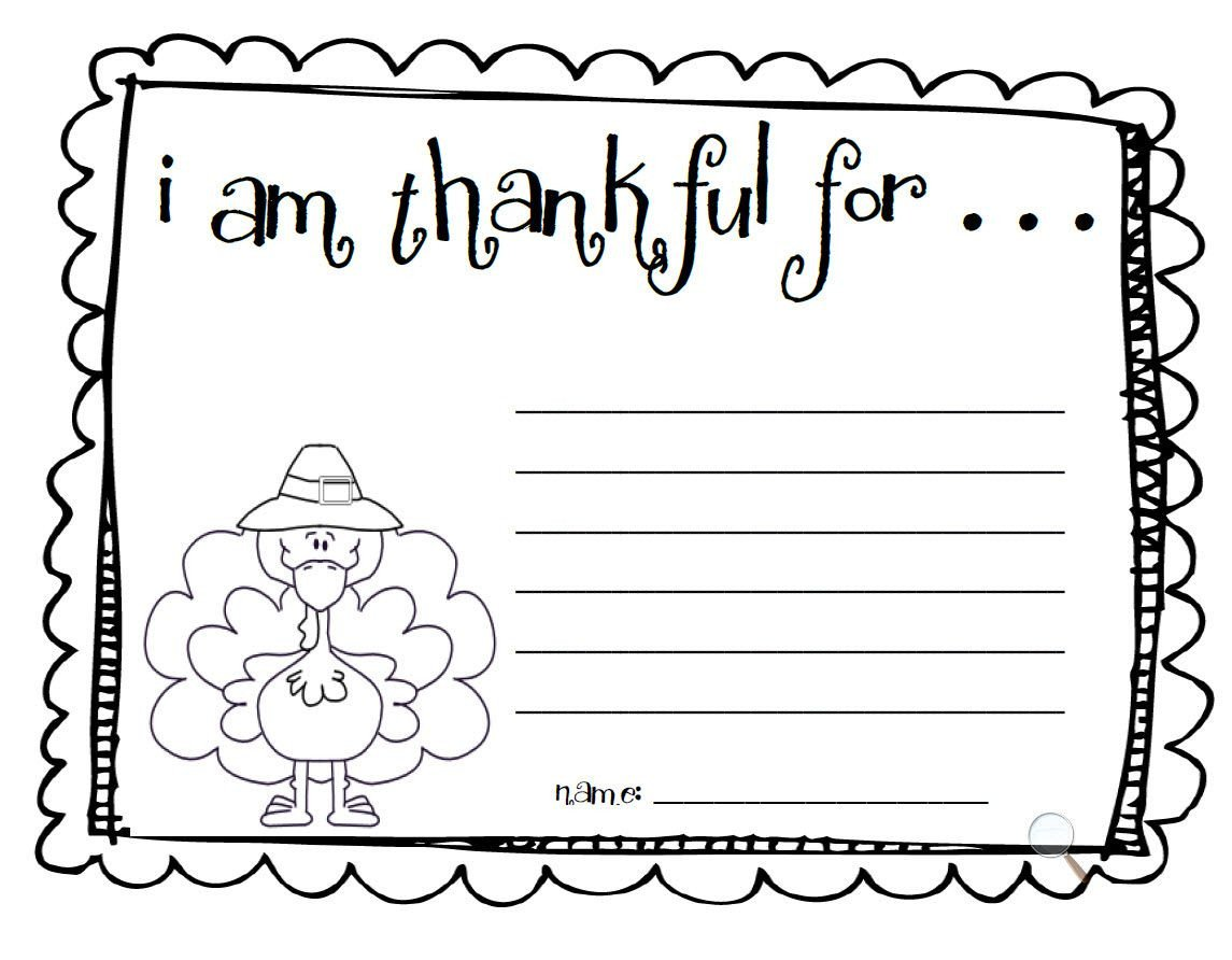 "I Am Thankful for Worksheet Make An ""i Am Thankful"" List"
