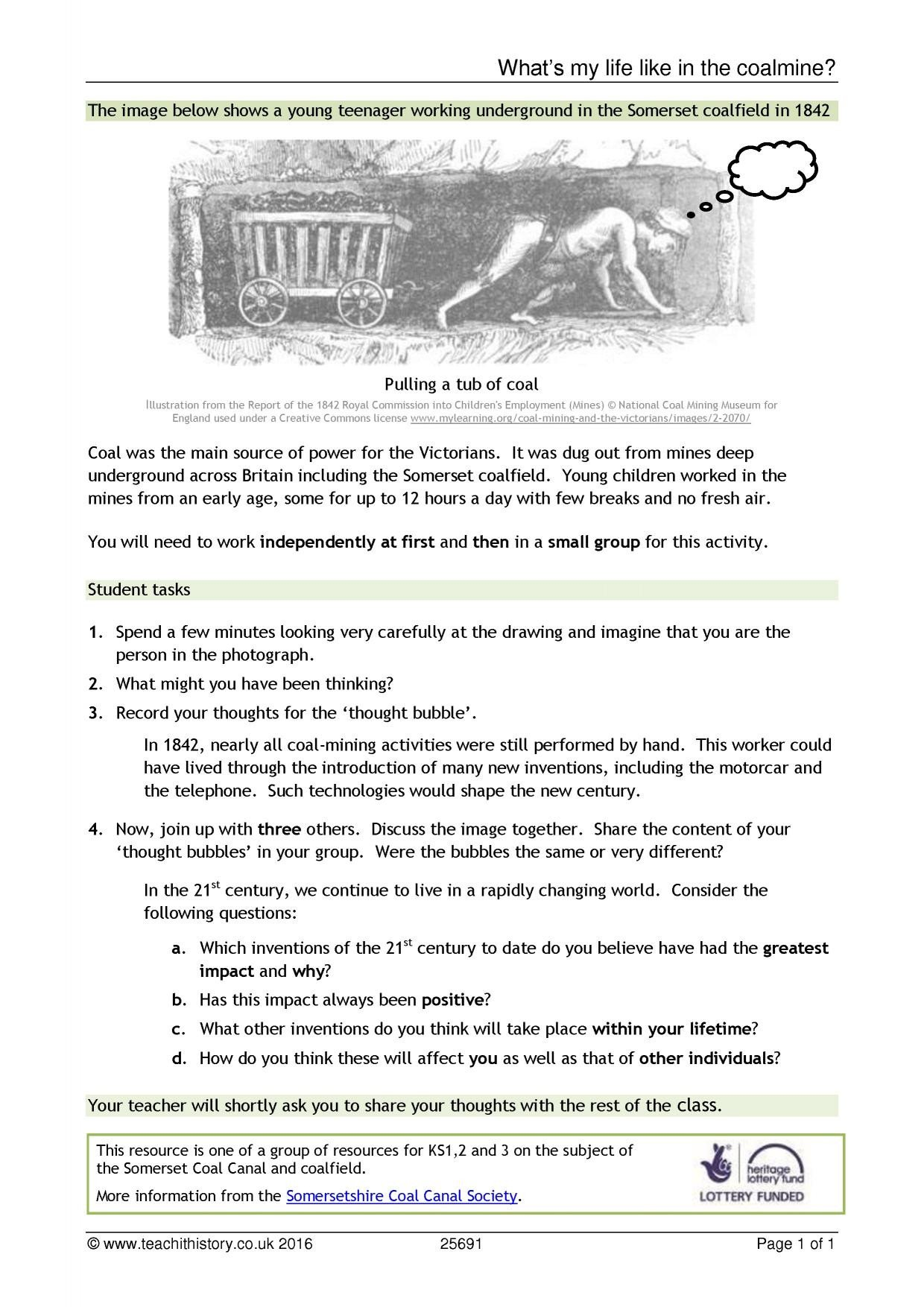 Industrial Revolution Worksheet Pdf Ks3 Industrial Revolution