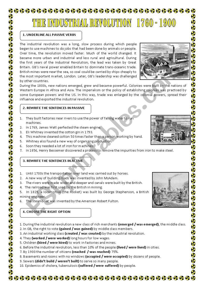 Industrial Revolution Worksheets Pdf Passives the Industrial Revolution Esl Worksheet by Maigomay