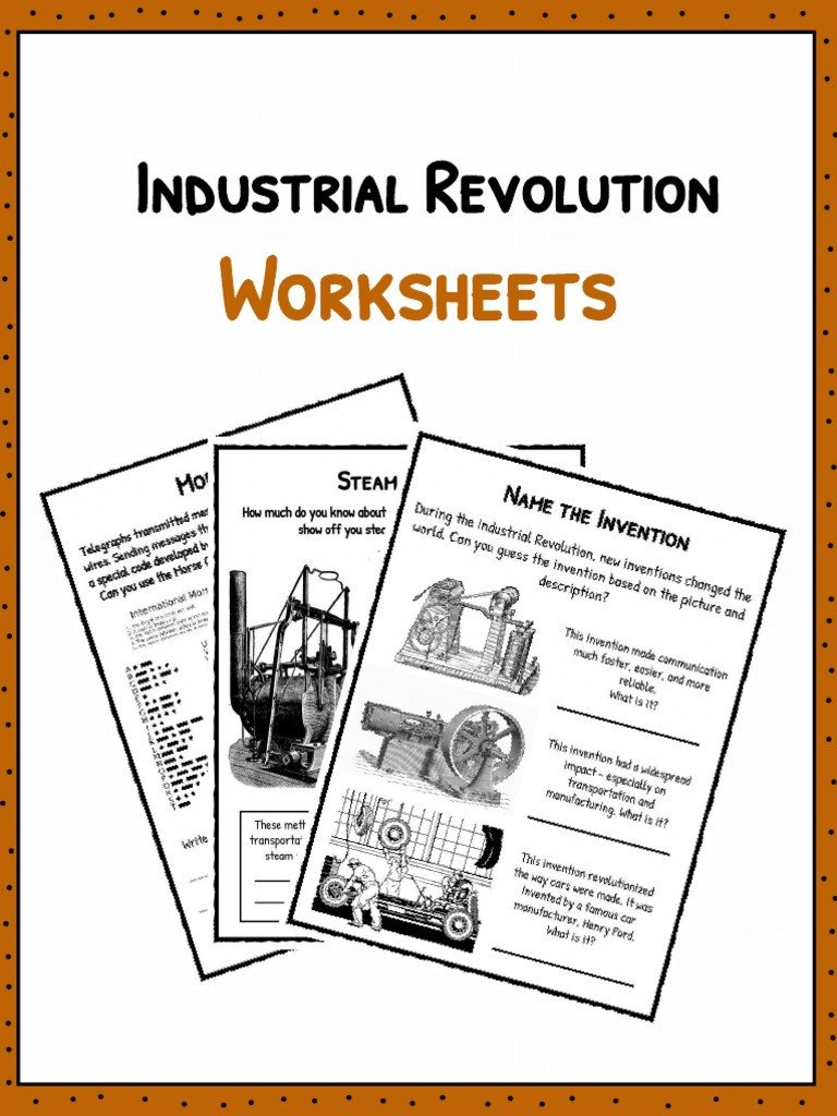 Industrial Revolution Worksheets Pdf Sample Industrial Revolution Worksheets 1