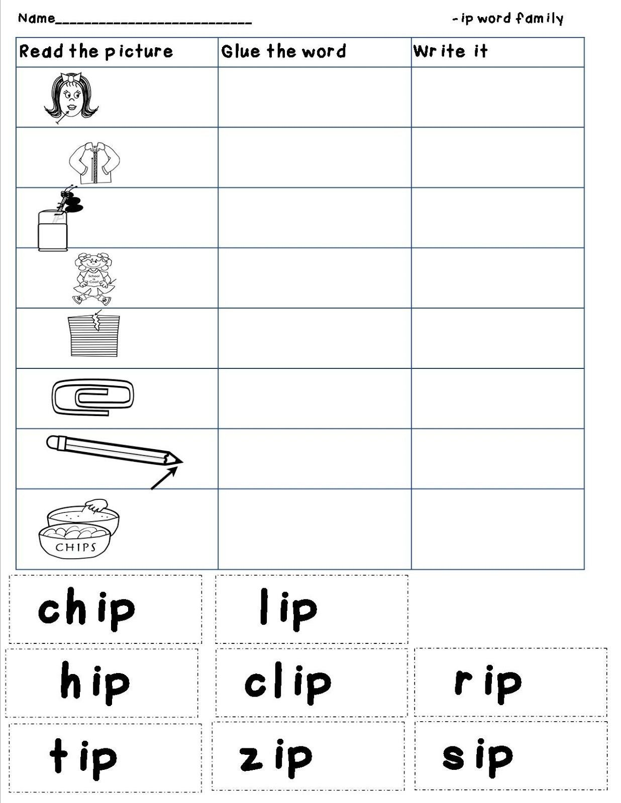 Ing Word Family Worksheets Mrs Bohaty S Kindergarten Kingdom