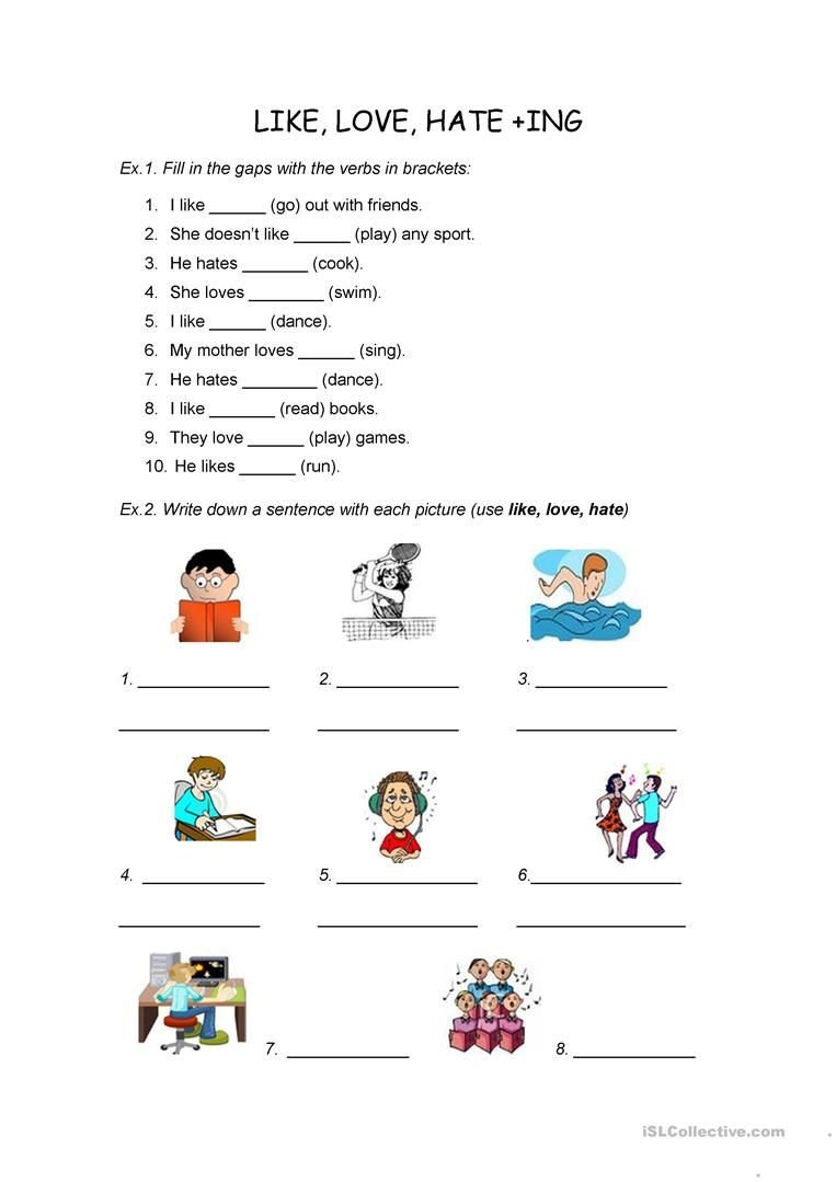 Ing Worksheets Grade 1 Pin On English