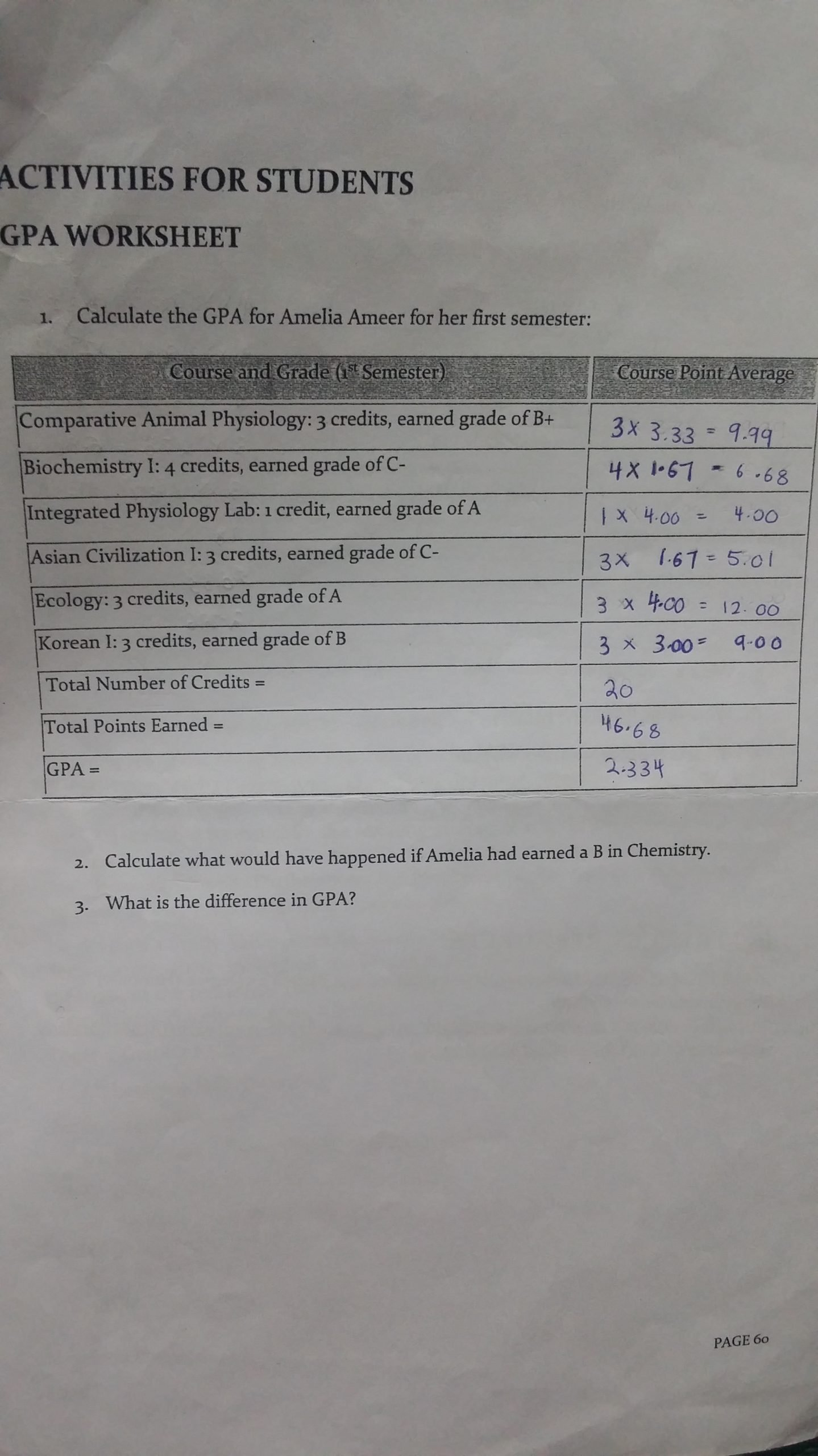 Integrated Chemistry and Physics Worksheets Gpa Worksheet – Nabilah Azmi