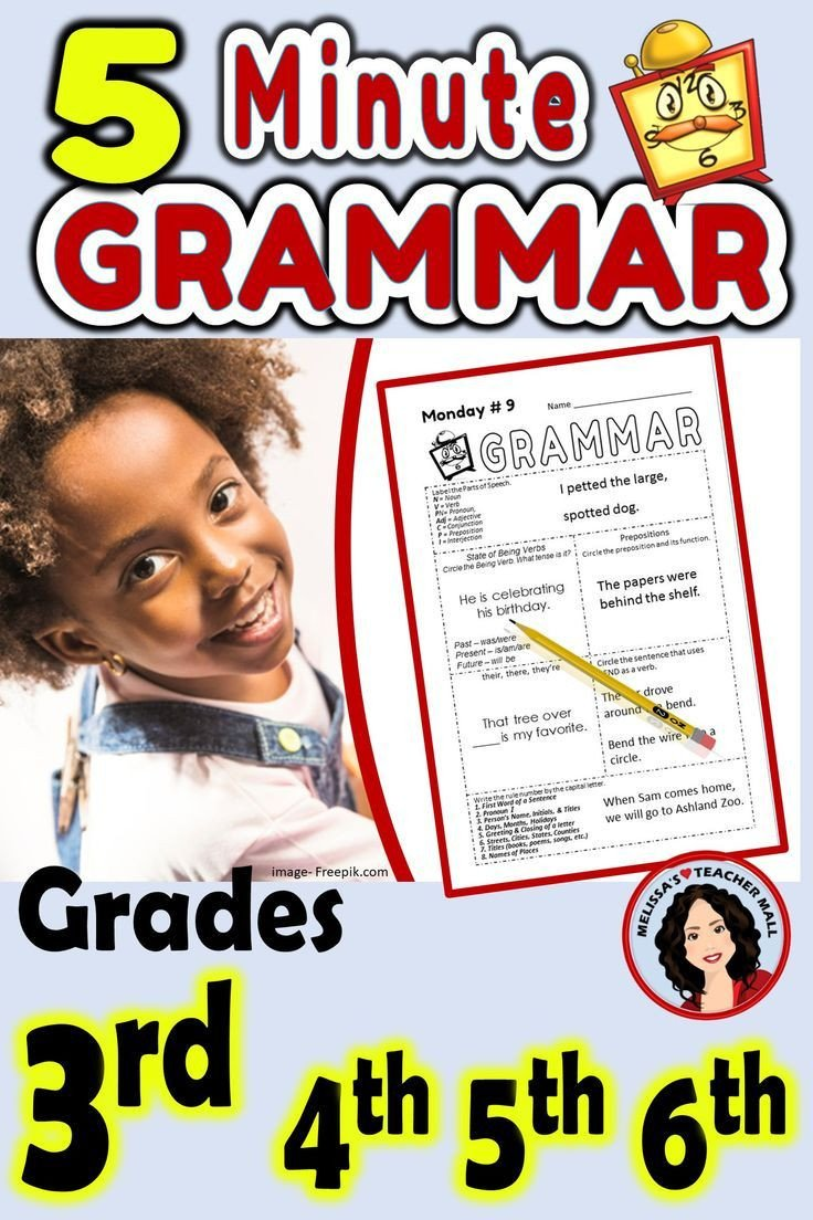 5 minute grammar daily grammar worksheets 3rd grade practice and