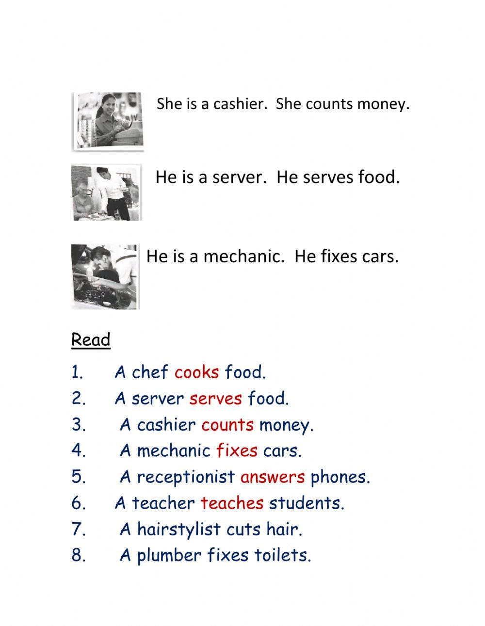 Job Skills Worksheets Job Skills Interactive Worksheet