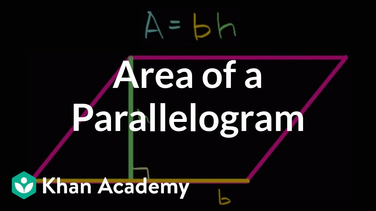Khan Academy Worksheets area Of A Parallelogram Video Geometry