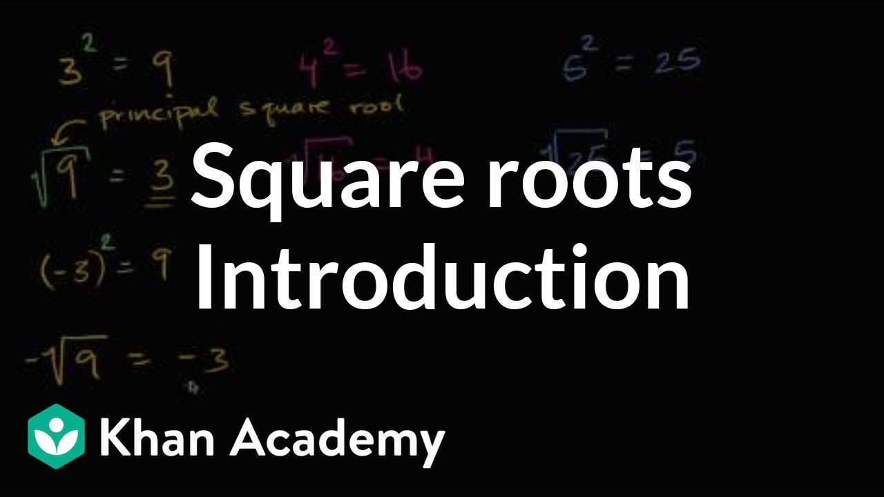Khan Academy Worksheets Intro to Square Roots Video Radicals