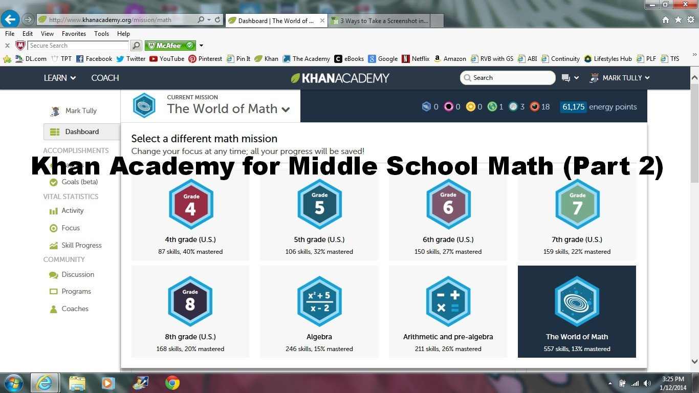 Khan Academy Worksheets Khan Academy for Middle School Math Part 2
