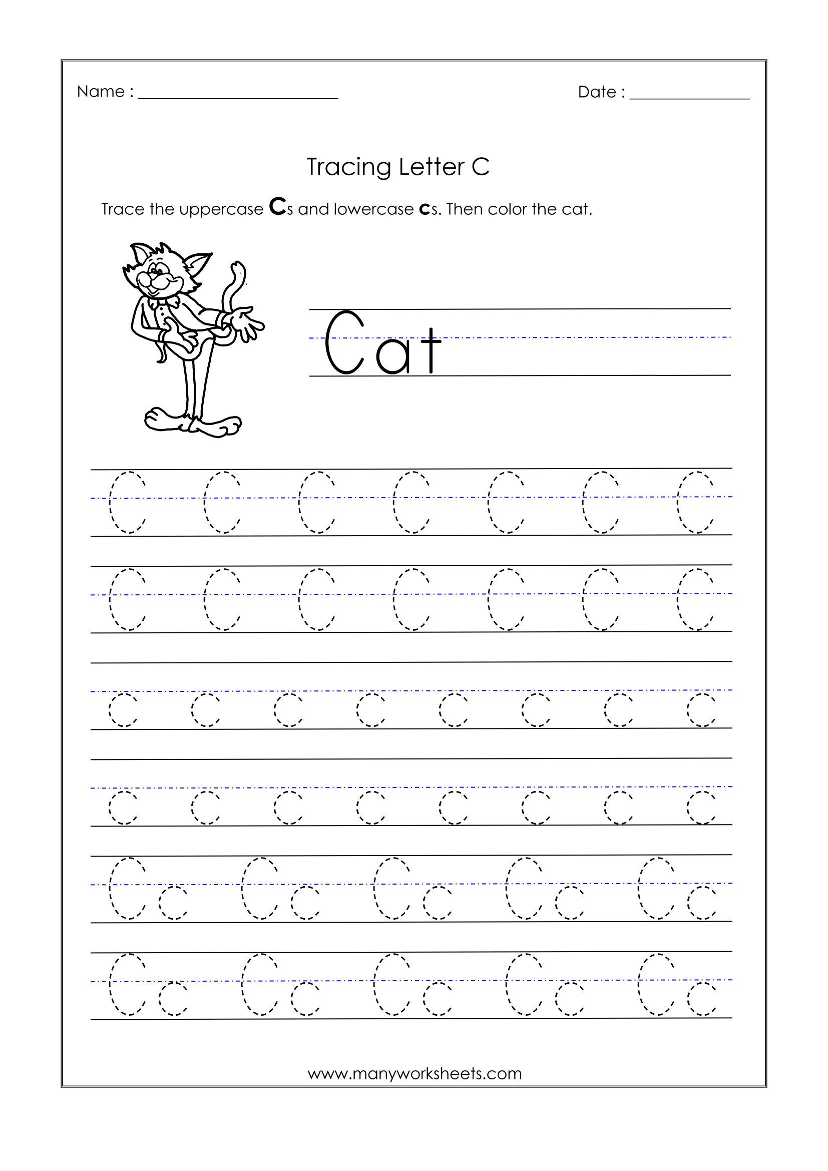 Khan Academy Worksheets Letter Worksheets for Kindergarten Trace Dotted Letters