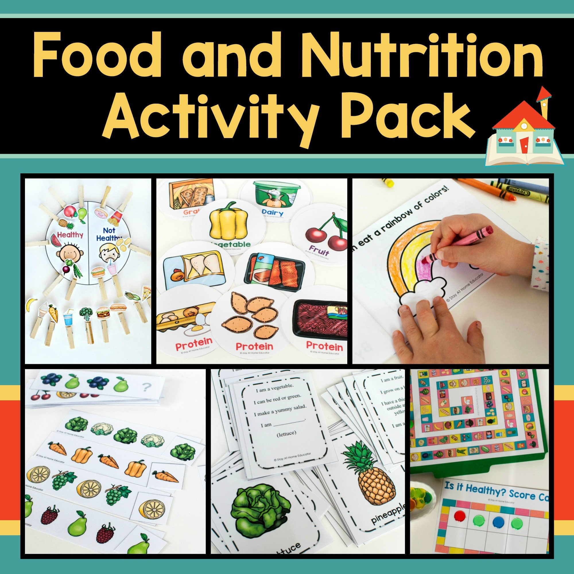 Food and Nutrition Activity Pack Cover