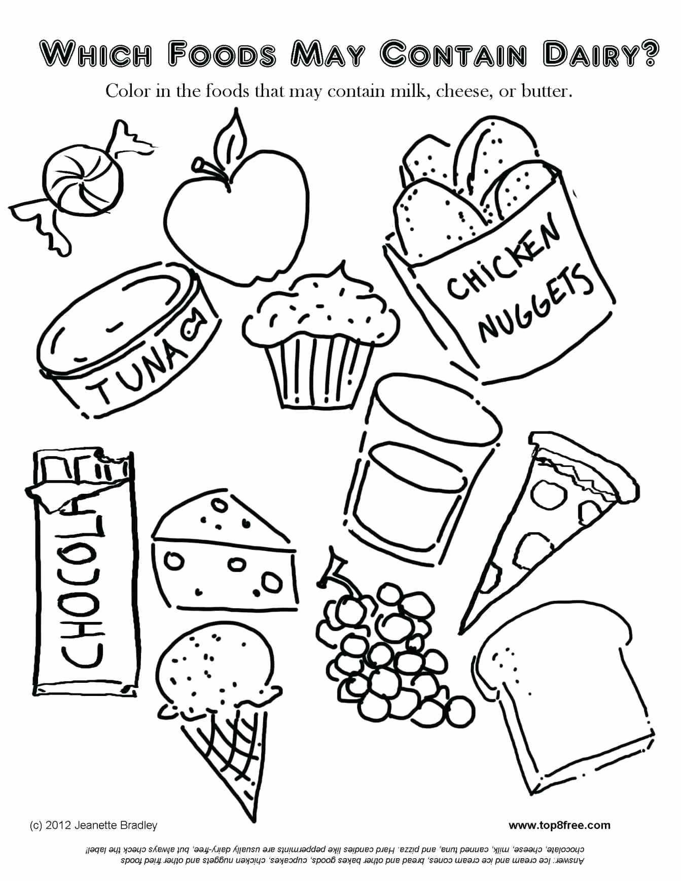 kindergarten food worksheets coloring no dairy fun nutrition for kids graphing systems of