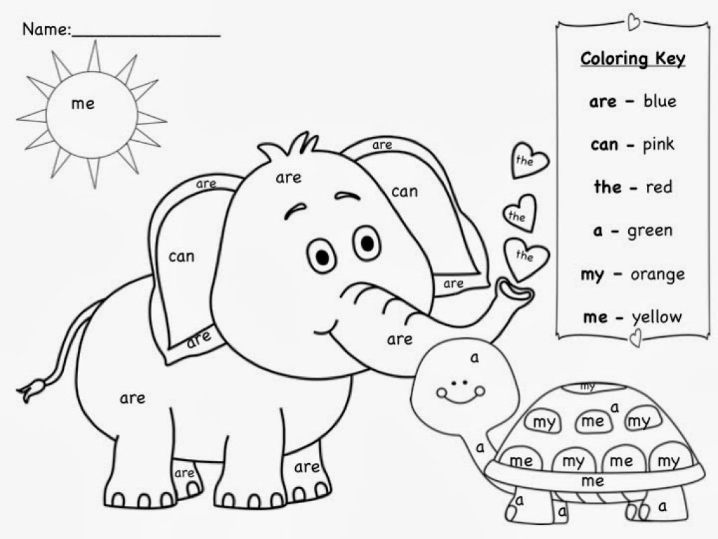 sight word coloring pages kindergarten and worksheets rocks free valentine