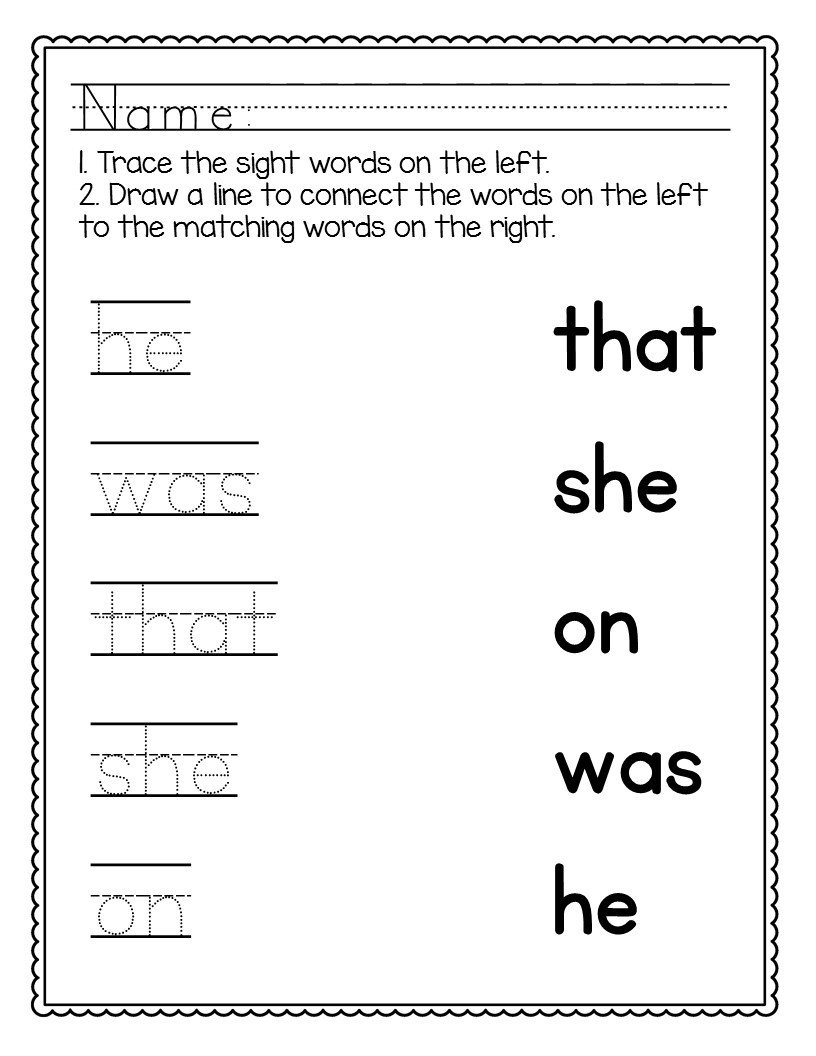 kindergarten sight words worksheets no prep the super teacher free word coloringges first grade dolch
