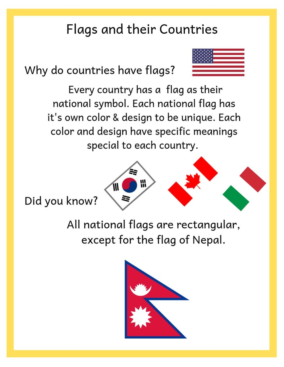 Kindergarten social Studies Worksheets Pdf Kindergarten social Stu S Flags and their Countries