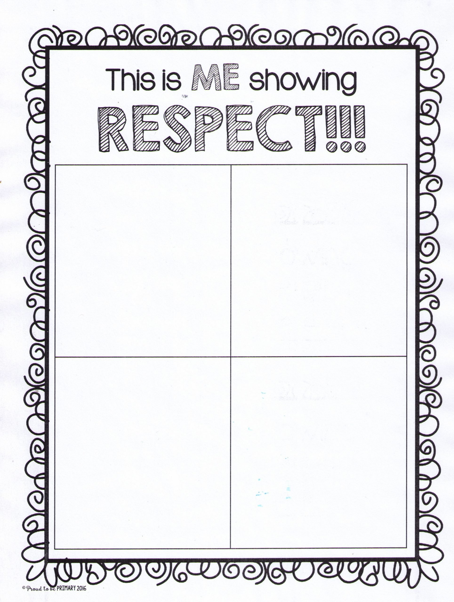 Me Showing Respect Drawing