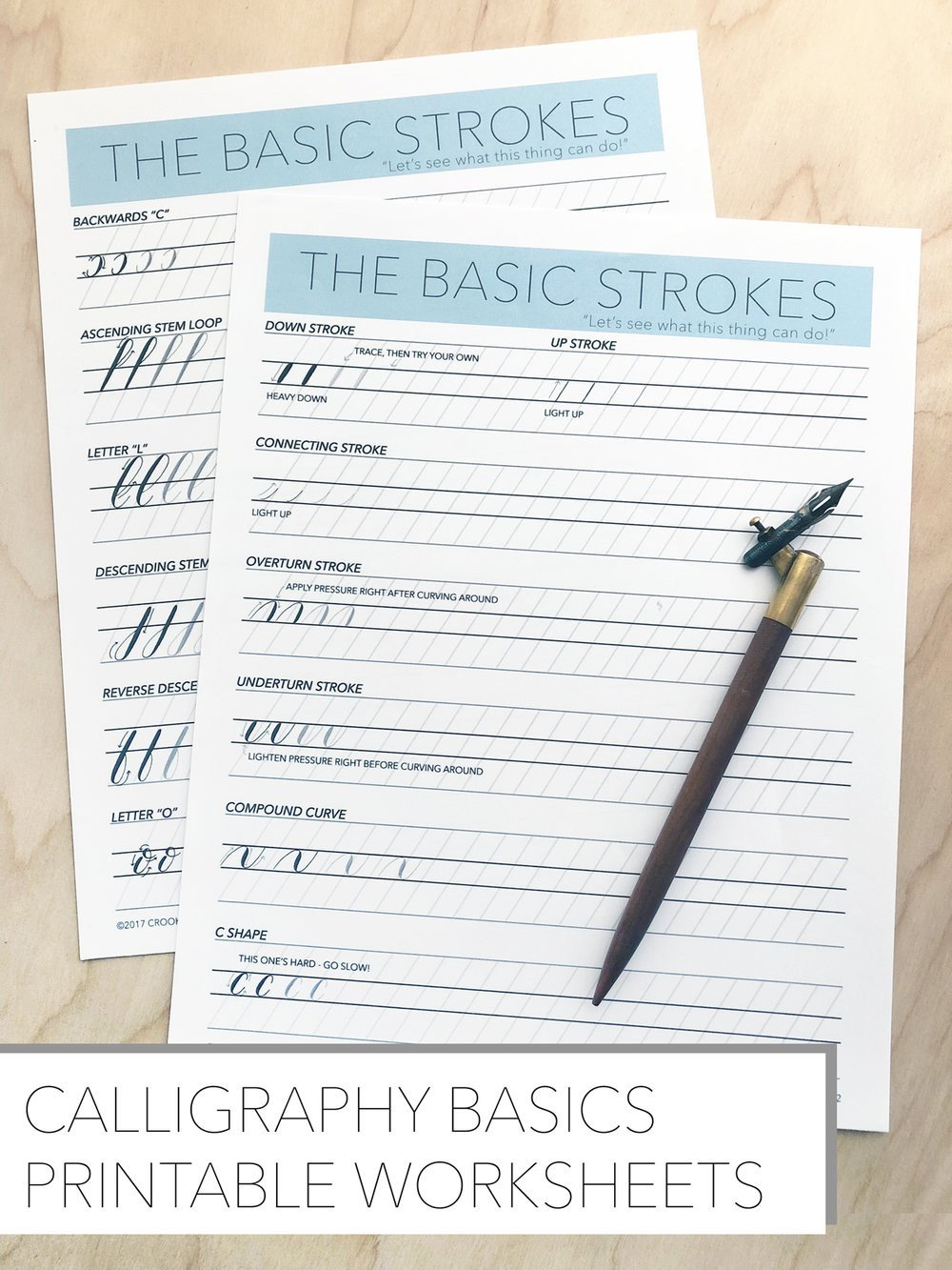 Learn Calligraphy Worksheets Free Basics Worksheets — Crooked Calligraphy