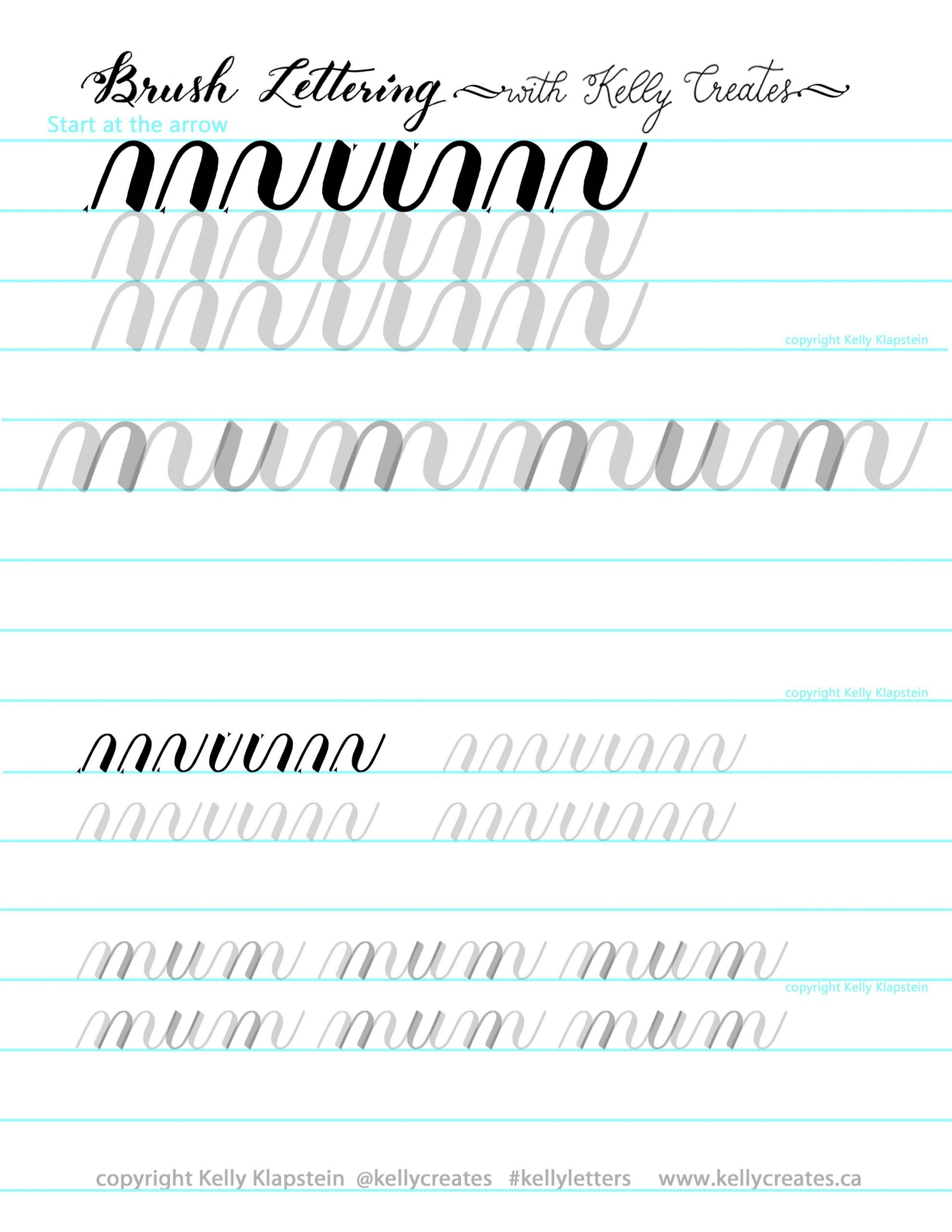 Learn Calligraphy Worksheets May Newsletter and Free Worksheet – Kelly Creates