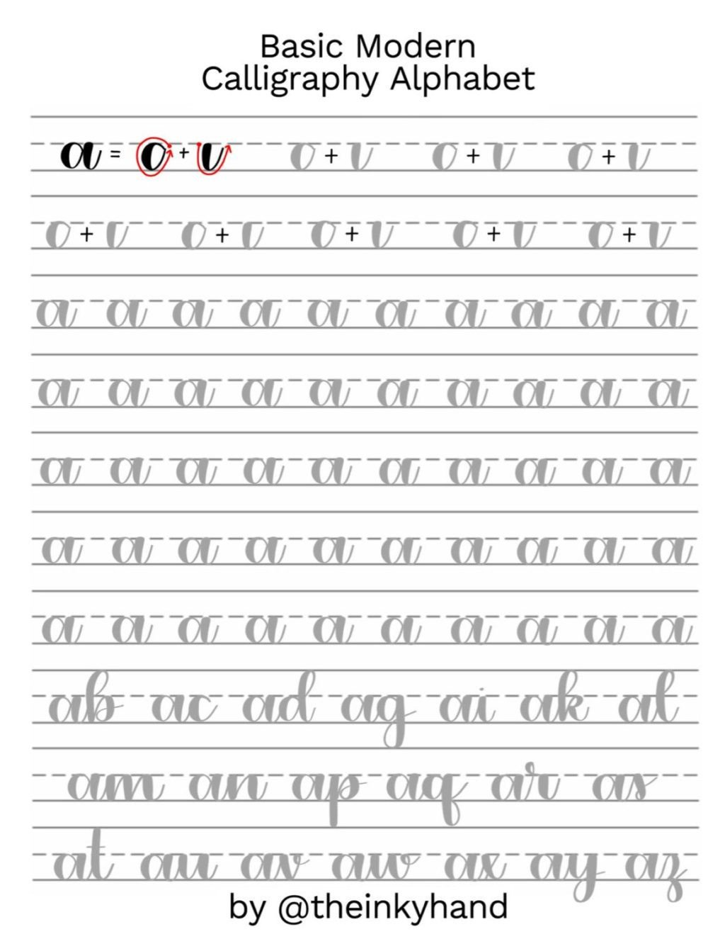 Learn Calligraphy Worksheets Worksheet Excelent Alphabet Practise Sheets Worksheet