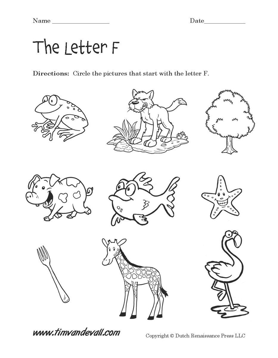 Letter F Worksheets for toddlers 15 Useful Letter F Worksheets for toddlers
